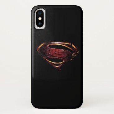 Justice League | Metallic Superman Symbol iPhone X Case