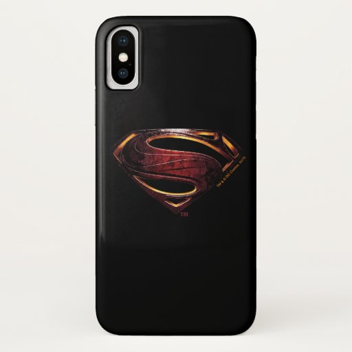Justice League | Metallic Superman Symbol iPhone X Case