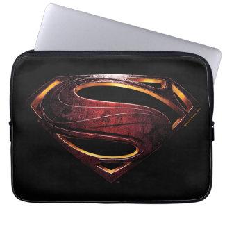 Justice League | Metallic Superman Symbol Computer Sleeve