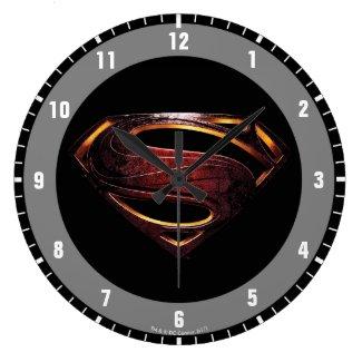 Justice League | Metallic Superman Symbol Large Clock