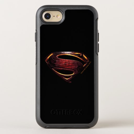 Justice League | Metallic Superman Symbol OtterBox Symmetry iPhone SE/8/7 Case