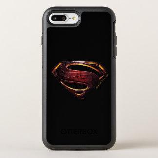 Justice League   Metallic Superman Symbol OtterBox Symmetry iPhone 8 Plus/7 Plus Case