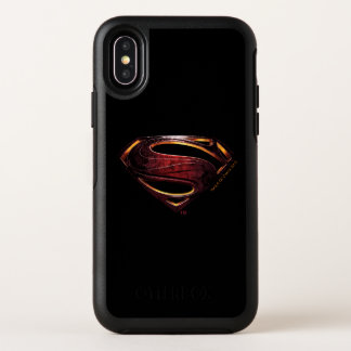 Justice League | Metallic Superman Symbol OtterBox Symmetry iPhone X Case
