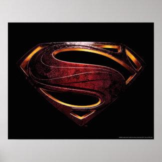 Justice League | Metallic Superman Symbol Poster
