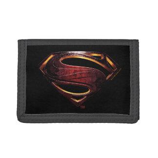 Justice League   Metallic Superman Symbol Tri-fold Wallet