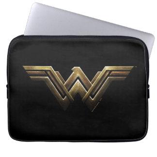 Justice League | Metallic Wonder Woman Symbol Computer Sleeve