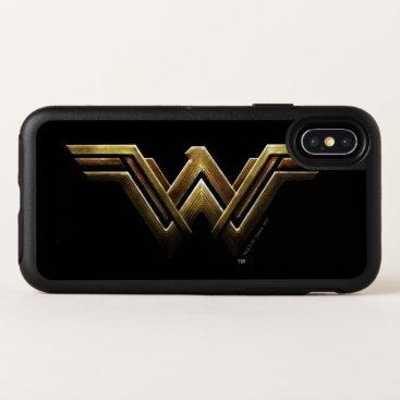Justice League   Metallic Wonder Woman Symbol OtterBox Symmetry iPhone X Case