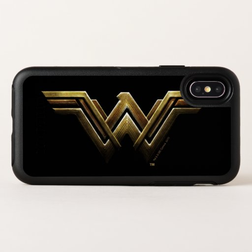 Justice League | Metallic Wonder Woman Symbol OtterBox Symmetry iPhone X Case