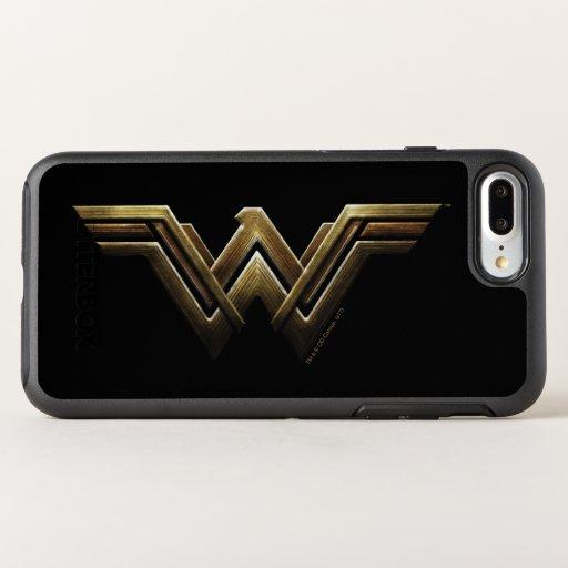 Justice League | Metallic Wonder Woman Symbol OtterBox Symmetry iPhone 8 Plus/7 Plus Case