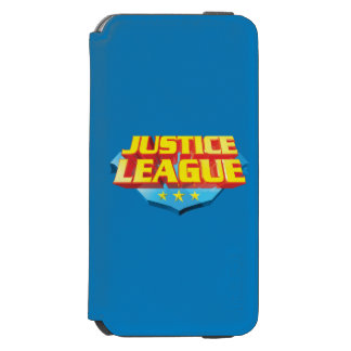 Justice League Name and Shield Logo iPhone 6/6s Wallet Case