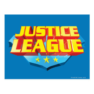 Justice League Name and Shield Logo Post Card