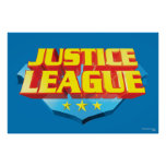 Justice League Name and Shield Logo Poster