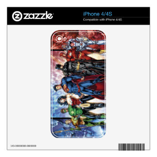 Justice League | New 52 Justice League Line Up iPhone 4S Decal