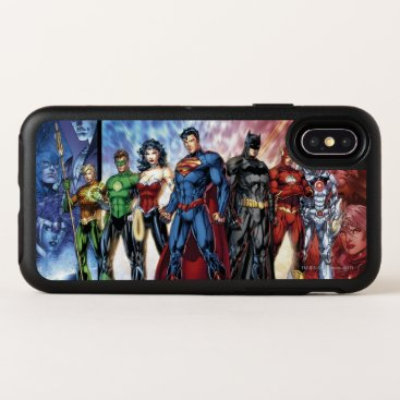 Justice League   New 52 Justice League Line Up OtterBox Symmetry iPhone X Case