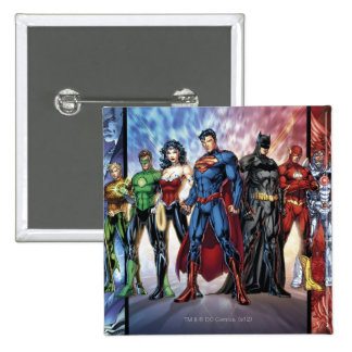 Justice League | New 52 Justice League Line Up Pinback Button