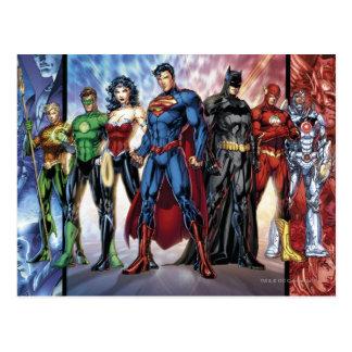 Justice League   New 52 Justice League Line Up Postcard