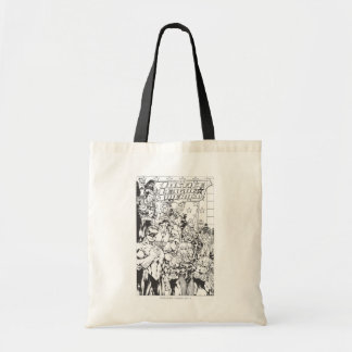 Justice League of America First Issue B/W Budget Tote Bag