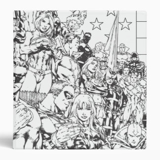 Justice League of America First Issue B W Vinyl Binder