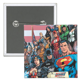 Justice League of America First Issue Pinback Button