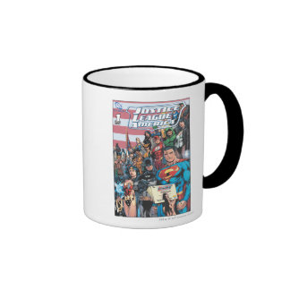 Justice League of America First Issue Ringer Coffee Mug
