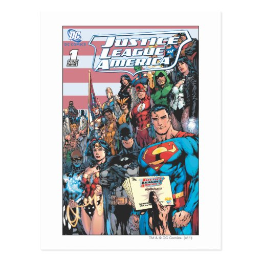 Justice League of America First Issue Post Cards