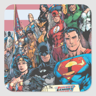 Justice League of America First Issue Square Sticker
