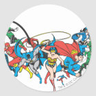 Justice League of America Group 2 Classic Round Sticker