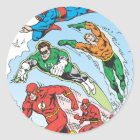 Justice League of America Group 3 Classic Round Sticker