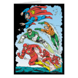 Justice League of America Group 3 Greeting Cards