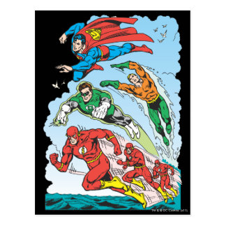 Justice League of America Group 3 Post Cards