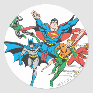 Justice League of America Group 4 Classic Round Sticker