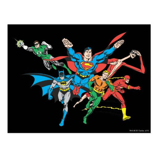 Justice League of America Group 4 Postcard