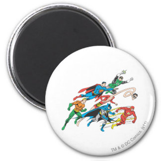 Justice League of America Group 5 2 Inch Round Magnet