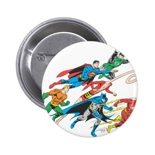 Justice League of America Group 5 Button