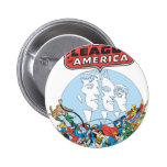 Justice League of America Group Buttons