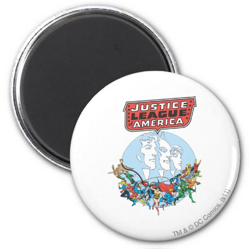 Justice League of America Group Fridge Magnets