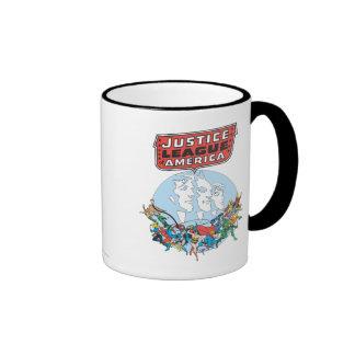 Justice League of America Group Ringer Mug