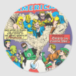 Justice League of America Issue #21 - Aug Round Sticker