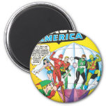 Justice League of America Issue #4 - May 2 Inch Round Magnet
