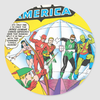 Justice League of America Issue #4 - May Round Stickers