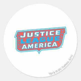 Justice League of America Logo Classic Round Sticker