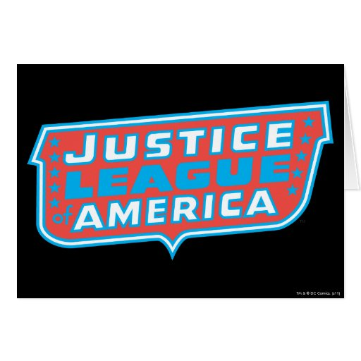 Justice League of America Logo Greeting Card