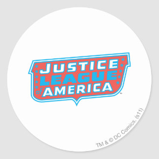 Justice League of America Logo Round Stickers