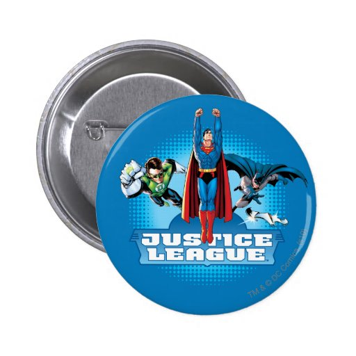 Justice League Power Trio Pinback Buttons