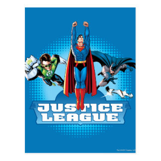 Justice League Power Trio Postcard