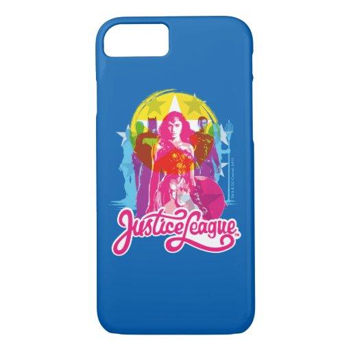 Justice League | Retro Group & Logo Pop Art iPhone 8/7 Case