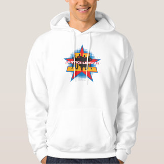 Justice League Silhouettes and Star Background Hoodie