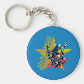 Justice League Star Heroes Basic Round Button Keychain