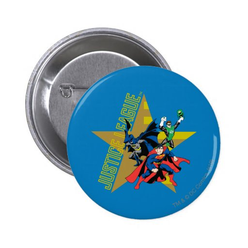 Justice League Star Heroes Pinback Buttons