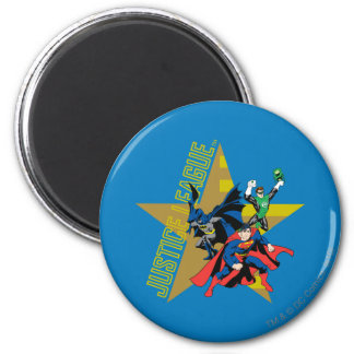 Justice League Star Heroes 2 Inch Round Magnet